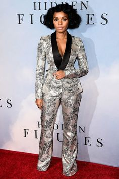 head to toe printed suit