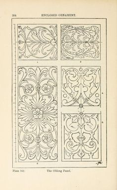 A handbook of ornament ;enclosed ornament the oblong panel pg 264