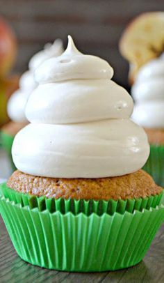 Applesauce Cupcakes with Maple Brown Sugar Cloud Frosting