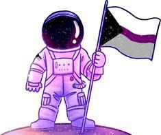 'Pride Astronaut [Demisexual]' Sticker by sumenya Panromantic Demisexual, Lgbtq Flags, Ace Pride, 3d Fantasy, Lgbt Love, Lgbt Community, Wattpad, Film, Character