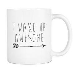 11oz white ceramic coffee mug Makes a perfect gift!