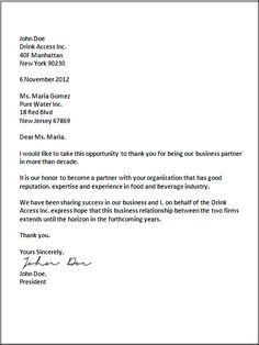 Sample Business Letter | Business Letter Templates | Pinterest ...