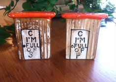 Vintage Outhouse Salt and Pepper Shakers by ChristleCollection on Etsy