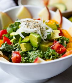 Kale Salad with a Tahini dressing... yumm