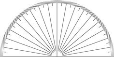 Image result for protractor image without numbers