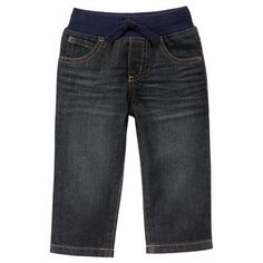Toddler Boys Dark Denim Pull-On Straight Jeans by Gymboree