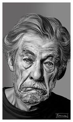 Human Movie, Ian Mckellen, Italian Artist, Portrait Illustration, Pencil Portrait, Types Of Art, Pencil Art, Art World, The Magicians