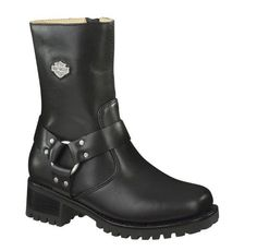 Harley-Davidson Women's Ashby Harness Thick Rugged Sole Boot, Motorcycle. 84187 #HarleyDavidson #MotorcycleBoots