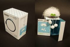 Product packaging box design...but I like the crazy critter and the packaging idea
