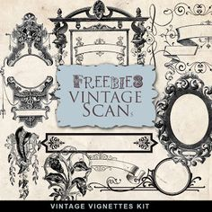 Far Far Hill - Free database of digital illustrations and papers: Freebies Vintage Vignettes