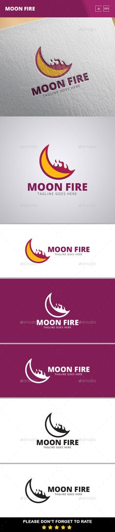 Moon Fire Logo Template