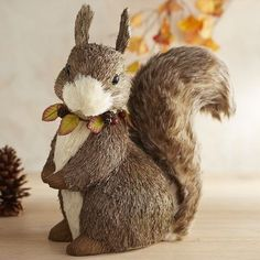 Natural Squirrel with Furry Tail