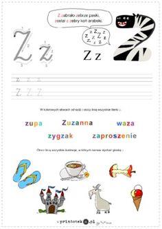 Poznaję literę Z - Printoteka.pl