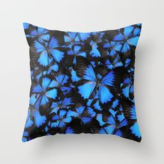 Blue and Black Butterflies by Cafelab