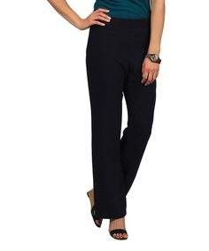 Another great find on #zulily! Navy Go-To Straight-Leg Pants by Celebrating Grace #zulilyfinds