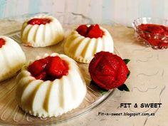 PANNACOTTA FITNESS  Podéis ver la receta en el blog!!!