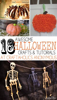 18 Awesome Halloween Crafts & Tutorials featured on Craftaholics Anonymous