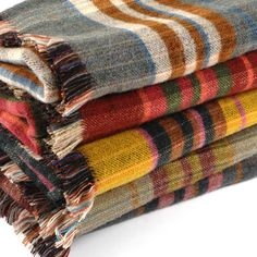 A Pure Wool Tartan Design Eco Car Rug