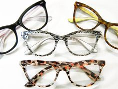 Super cute clear lens cat eye fashion glasses chic and distinct! These retro inspired cat eye glasses are extremely stylish and truly geek chic. These plastic pin up frames are perfect and unique Cool Glasses, Glasses Frames, Funky Glasses, Free Glasses, Fashion Eye Glasses, Cat Eye Glasses, Black Panthers, Eye Frames, Four Eyes