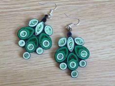 Quilling earrings - great idea :)