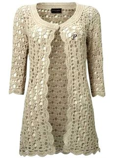 Beautiful coat of crochet ~ YARN CROCHET