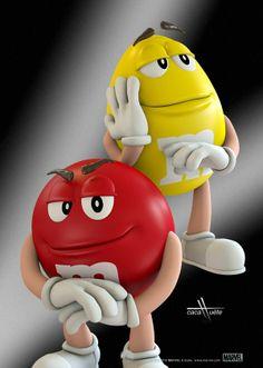 Red & Yellow M & M