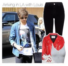 """Arriving in LA withLouis"" by direction-of-the-summer ❤ liked on Polyvore featuring River Island, Acne Studios and adidas Originals"