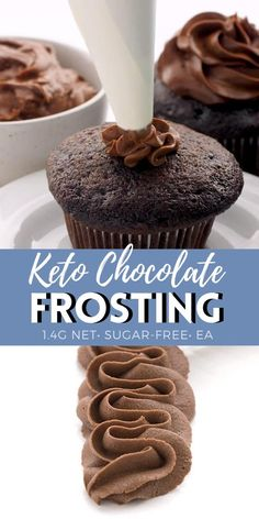 Chocolate Frosting Recipes, Keto Chocolate Cake, Healthy Frosting Recipes, Chocolate Cream Cheese Frosting, Low Carb Sweets, Low Carb Desserts, Dessert Recipes, Keto Cake, Keto Cheesecake