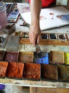 Lars Eje Larsson Creating in the studio Artist Life, Artist At Work, Atelier D Art, Color Harmony, Art Techniques, Art Studios, Love Art, Art Tutorials, Painting Inspiration