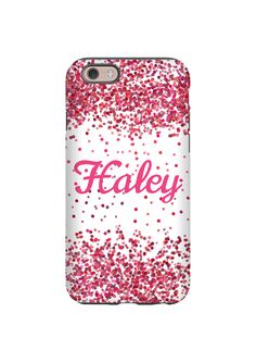 Pink Confetti Personalized iPhone case/Galaxy case