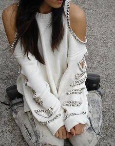 Studded Sweater $52.00   JuliLand   SHABBY CHIC