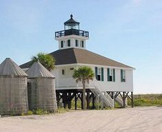 Boca Grande Lighthouse: The lighthouse is located inside the Gasparilla Island State Park in Florida and managed and operated by Barrier Island Parks Society.