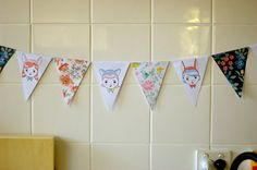 Floral and Girlie Bunting DIY PDF Craft Kit by girliepains on Etsy, $4.00