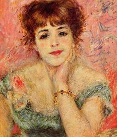 Renoir, Jeanne Samary, La Reverie (1877)  Beautiful.work..i have always liked the softness of the work