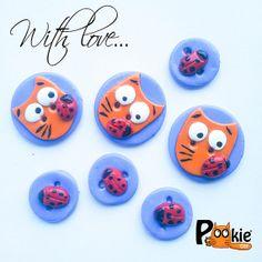 Ladybug CAT themed set kawaii polymer clay by PookieCatsWorld, $8.00