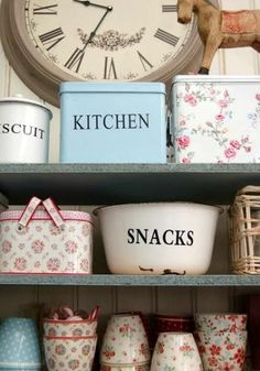 Vintage kitchen storage