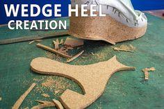 Wedge heel creation