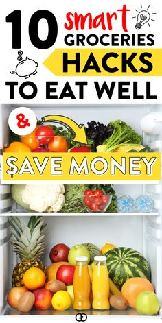 10 saving money tips to save on groceries (without coupons! I used these hacks to save hundreds of Money Saving Meals, Money Saving Challenge, Save Money On Groceries, Frugal Meals, Budget Meals, Food Budget, Frugal Recipes, Frugal Tips, Grocery Savings Tips