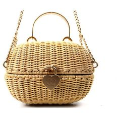 Chanel - Authentic Chanel Rattan Basket Shoulder Bag Rare | MALLERIES found on Polyvore