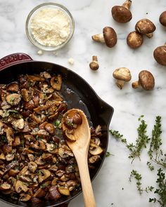 Recipe: 15-Minute Parmesan-Thyme Mushrooms — Thanksgiving Sides