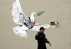 Banksy - Bethlehem #street art #graffiti