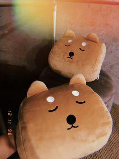 Daiso hand warmer dog pillows $9 Dog Pillows, Japanese Store, Daiso, Hand Warmers, Plushies, Snoopy, Teddy Bear, Kawaii, Toys