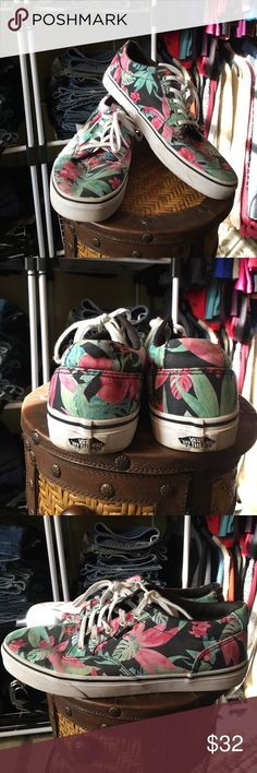 Floral Vans Perfect summer fun Vans Sneakers in great used condition. Worn a few times last summer. Replaced with new ones this year. Vans Shoes Sneakers