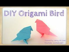 Vouw met dit gratis patroon zelf je eigen origami bird. Het resultaat is geweldig. Je kunt ze bij een klein cadeautje geven of als decoratie in de kamer zetten.