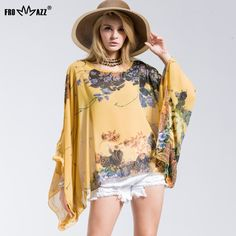 FROMMAZZ 2016 New Summer Casual Fashion Floral Women Ladies Sexy Batwing Sleeve Loose Chiffon Floral Printed Blouse Tops FS16019♦️ B E S T Online Marketplace - SaleVenue ♦️👉🏿 http://www.salevenue.co.uk/products/frommazz-2016-new-summer-casual-fashion-floral-women-ladies-sexy-batwing-sleeve-loose-chiffon-floral-printed-blouse-tops-fs16019/ US $7.98