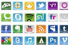 Free Social Icons - Artwork by emey87 Social Network Icons, Social Icons, Cool Artwork, Design Inspiration, Classy, Free, Chic, Cool Art