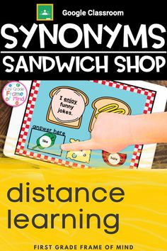 Teach synonyms digitally with this distance learning resource with or without Google Classroom™️! All you need is access to Google Slides™️, and they can be used for whole group, small group or individual student work. #distancelearning #firstgrade #1stgrade #synonyms #teaching Vocabulary Strategies, Vocabulary Activities, Teaching Activities, Classroom Posters, Google Classroom, 1st Grade Writing, Primary Teaching, Frame Of Mind, Student Work