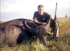 In November 2004, while on a visit to Argentina, the Prince was pictured as he crouched beside the carcass of a recently killed water buffalo.It was taken at the end of a hunting party attended by Harry and held on land belonging to Count Claudio Zichy Thyssen, according to El Diaro newspaper, which originally published the photo