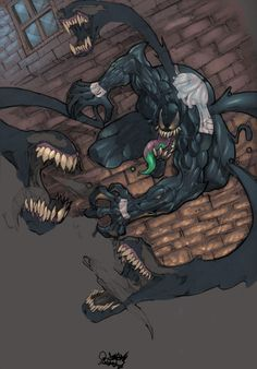 Venom Final: Hi all, Well here it is the colored version of Venom. Colored by a fellow and very talented artist jwebster45206 over at Renderoisty, take a look thourgh his gallery, very nice work. W...