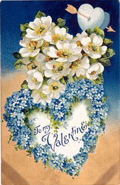 Valentine apple blossoms & forget-me-nots